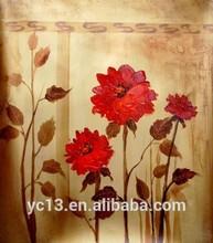Decoración de la pared pintura al óleo de cuadros de flores de ct-78