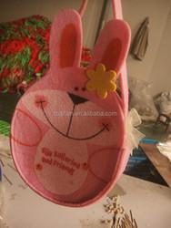 felt bunny t easter basket ,easter decorations,eater candy bag bunny bag