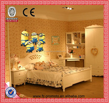 Despicable Me 2 Minion Movie Decal Removable Wall Sticker Hot Selling Home Decor Art Kids /Nursery Loving Gift