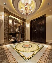 Factory Direct Sale Polished Golden Crystal Porcelain 3D Flooring Carpet Tiles AVP1212350-2