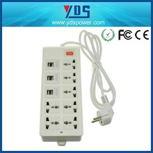 In Stock Smart Plug Power Strip Outlet Socket 6 USB Extension Socket Plug