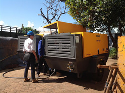 Electrical portable air compressor 75kw