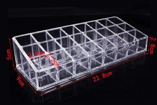 Modern clear plastic acrylic lipstick desk organizer