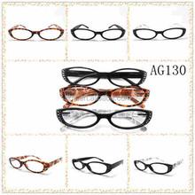 Fashion high quality pattern reading glasses with rhinestone
