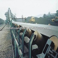 strong wear type cover glue polyester conveyor belt for stone production line
