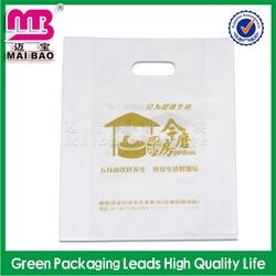 popular in american gray shopping die cut pe bags made in Guangzhou