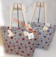 NEW hot selling Red Stars Handbag Tote bag Shiopping bag Bolsa de galon saco