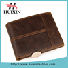 Manufactured customized own brand logo brown leather wallet