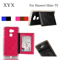 Lowest price!!! leather flip phone case cover for Huawei mate 7S, for huawei ascend mate back side cover