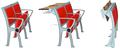 Barato cadeira de sala de aula / mobiliário escolar