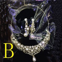 Fashion Retro Women's Choker Necklace Set With Earring