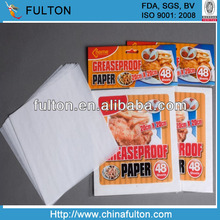 FDA approved greaseproof turkey decorated paper