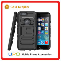 [UPO] High Quality Shockproof Heavy Duty Belt Clip PC Silicone Phone Case for iPhone 6