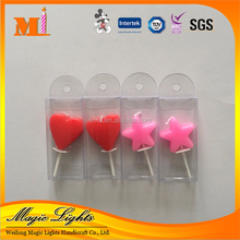 China Wholesale Red Heart Stands Wedding Favors Candle