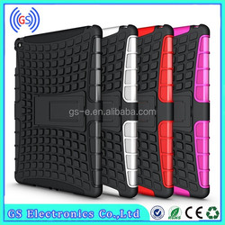 Shockproof Hybrid Case for ipad air 2 with Kickstand, TPU PC Phone case for ipad 6