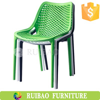 Modern Special Design Plastic Bright Colored Dining Chairs