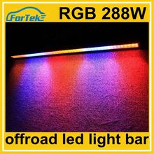 4x4 offroad 288w straight RGB flashing led light bar 50 inch for 4WD roof light