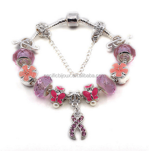 teen girl diy alloy beads charms cute pendant bracelet best gift