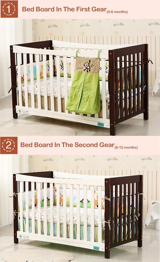 Niños cunas diseños con colores disponibles, madera cuna del bebé ...