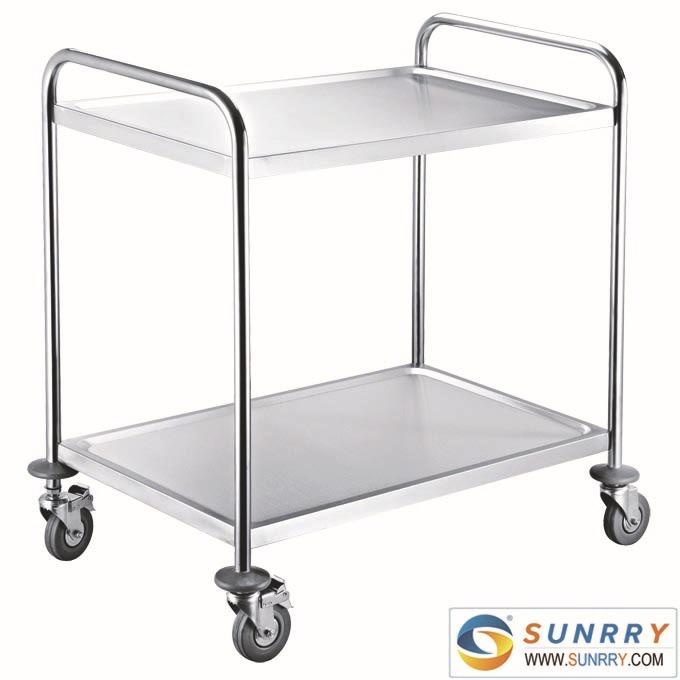 stainless steel kitchen cart 2 layers hotel kitchen