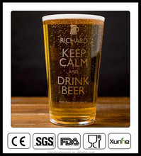 16oz Custom printed pint glass wholesale