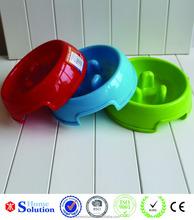 non slip design high quality plastic slow feeding dog bowl 2015 pet supplier