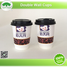 Double wall Paper Cup 12oz ,custom logo,with plastic lids,beautiful design