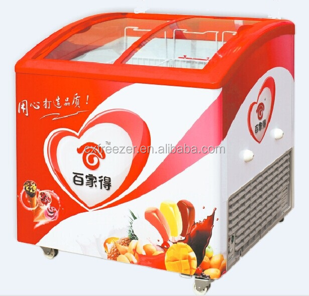 Gelato display congelatore con porta in vetro temperato - Congelatore piccole dimensioni ...