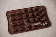 FDA animal shaped silicone chocolate molds