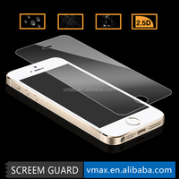 For Vmax Clear Anti-shock 9H 2.5D Cell Phone/Mobile Phone lcd display Premium tempered glass screen protector iPhone 5 5c 5s