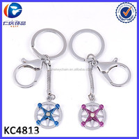 Creative promotion gift ship steering wheel lovers key ring