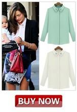 2014 primavera de la marca tapas de la moda chaqueta de punto dulce camisas de manga larga delgado rebordear blusas de gasa 6329