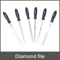 High quality 6pcs 5*180mm diamond file set 6 in 1 file shape: square/round/half round/triangle/flat/taper