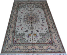 oriental 4x6ft handmade silk and wool rug