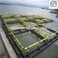 polietileno de alta densidad de agua dulce de la jaula flotante de pescado de la cultura