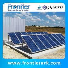 Adjustable angle flat roof solar panel power support system