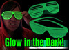 Party events glasses , promotion glow in the dark sunglasses with blue light