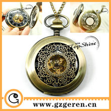 Free shipping 2014 China Alibaba Wholesale Buy Online Black Face Mechanical Anitque Bronze Steampunk pocket watch For Men