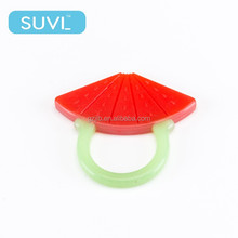 watermelon silicone ring funny baby fruit teether bpa free