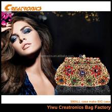 2015 newest designer hand made evening crystal woman clutch bag