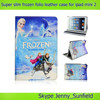 Super slim movie character frozen folio leather case for ipad mini 2 , for ipad mini 2 case frozen