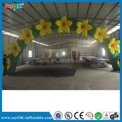 Outdoor welcome inflatable flower arch, inflatable archway, inflatable gate