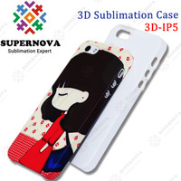 3D Sublimation Blank Phone Case for iPhone 5 5s