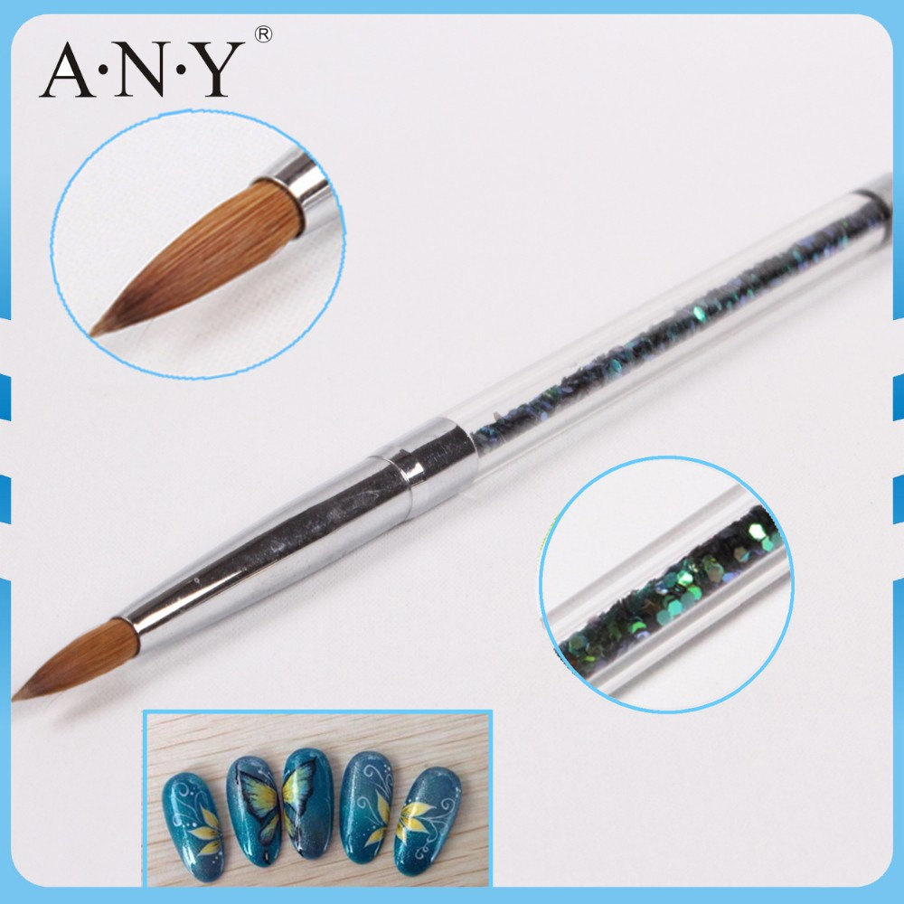 ANY Nail Art Beauty Care Glitter Handle Acrylic UB Nail Art Brush for ...
