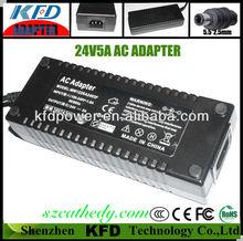 24V5A medical power supply , medical ac dc adapter