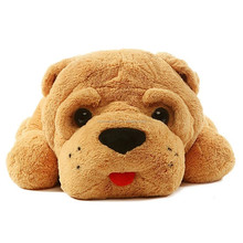 Plush Toy Cute Shar Pei Dog Huge Doll Yellow Color Soft Stuffed Animal