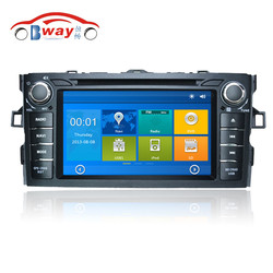 "Factory price 7"" car dvd for Toyota COROLLA 2012 car Radio player with GPS,Radio,bluetooth,steering wheel"