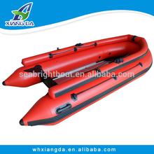 2015 de China de fábrica casco PVC velocidad barato inflable bote de remos adultos