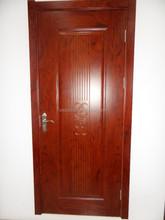 2015 jiangshan últimas barato PVC interior de doble corredera estándar precio de la puerta interna PVC de madera sencilla puerta para aula