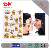 Glitter Tattoo kit 6 color/brushes/glue/stencil /sticker temporary tattoos kit BALK6(sb)
